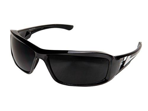 Edge Eyewear XB116 Brazeau Safety Glasses Black with Smoke Lens