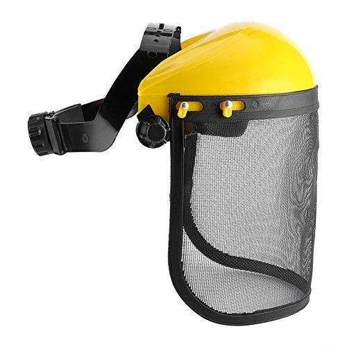 Forestry Safety Helmet Mesh Safety Helmet Durable Helmet Hat with Full Face Mesh Visor for Logging Brushcutter Forestry Protection