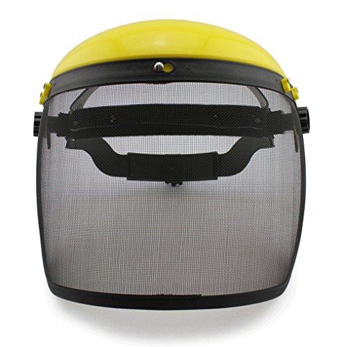 GFYWZZ Iron net Visor Screen Helmet Industrial Safety Face Shield Anti-Iron ScrapSawdustChainsawGardens Scratch Splash Eye Protection Cover