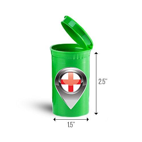 England Flag Place Mark Portable Pocket Medicine Pill Box ID 5503G