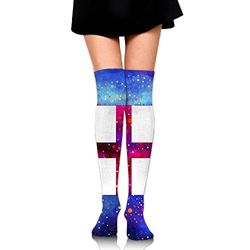 England Flag Starry Flag Compression Socks Knee High Socks Long Socks For RunningWalkingHikingCycling