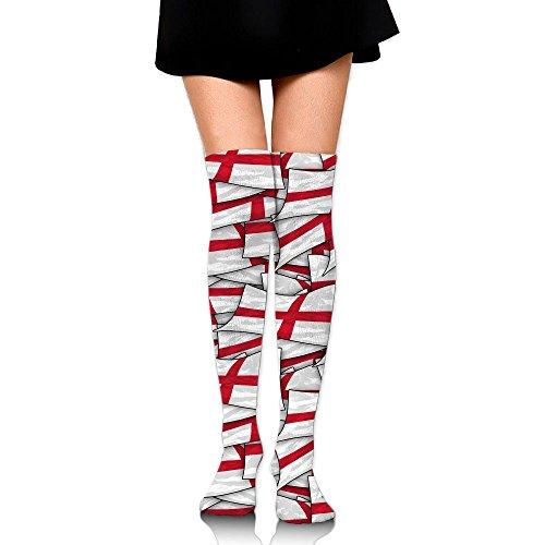 England Flag Wave Collage Long Socks Knee High Socks Dress Socks For Cosplay Daily Life Party
