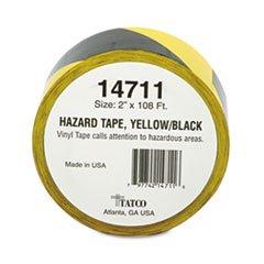 Hazard Marking Aisle Tape 2w x 108 ft Roll