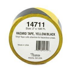 Tatco Hazard Marking Aisle Tape 2w x 108ft Roll