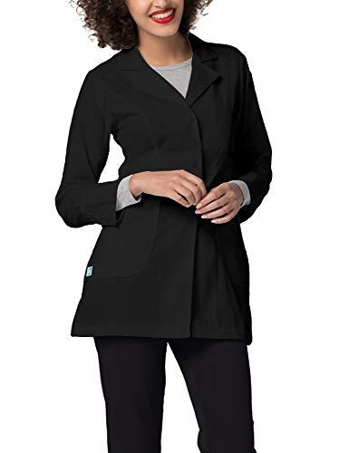 Adar Universal Lab Coats for Women - Perfection 32 Lab Coat - 811 - Black - XL