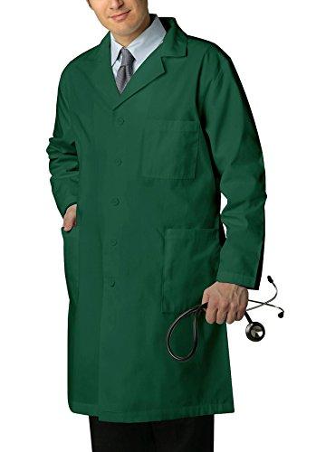 Adar Universal Unisex Lab Coats - Classic 39 Lab Coat - 803 - Hunter Green - 34