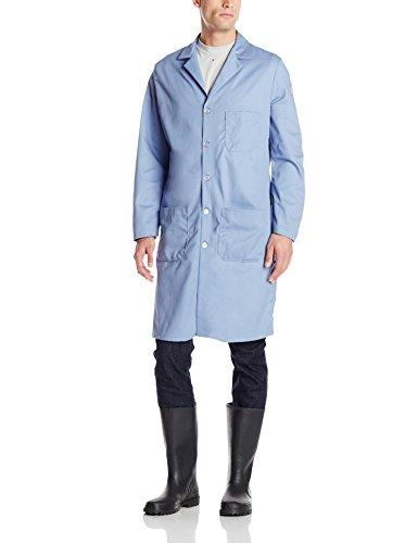 Bulwark Mens FR Lab Coat Light Blue Small