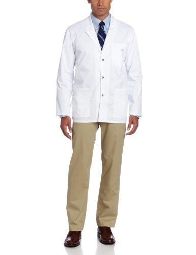 Dickies Mens Gen Flex Youtility Contrast Stitch 31 Inch Lab Coat White Medium