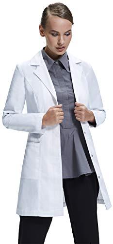 Dr James Womens Lab Coat Tailored Fit Feminine Design White 33 Inch Length DR5-US4