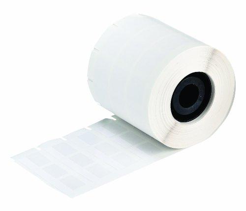 Brady 52155 Self-Laminating Vinyl Minimark Industrial Printer Self-Laminating Die Cut Labels  White  1000 x 1000  3275 Labels per Roll 1 Roll per Package