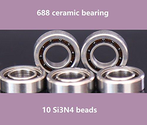 10 Si3N4 Beads 688 Ceramic Bearing 8x16x5mm Silicon Nitride Ball Bearing