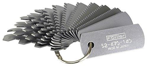 Fowler Involute Gear Tooth Gage 14Leaf 6-80mm 52-470-140