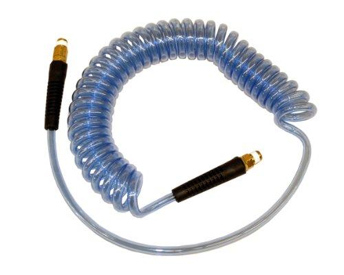 ATP Technithane Polyurethane Auto Spiral Hose Clear Blue 38 ID x 916 OD 19 feet Length15 feet Working Length 38 NPT Male