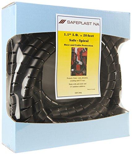 Pre-Cut Spiral Wrap Hose Protector 125 OD 20 Length Black