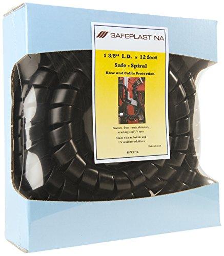 Pre-Cut Spiral Wrap Hose Protector 15 OD 12 Length Black