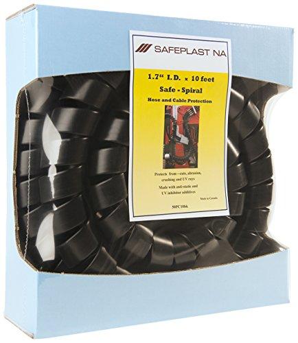 Pre-Cut Spiral Wrap Hose Protector 20 OD 10 Length Black