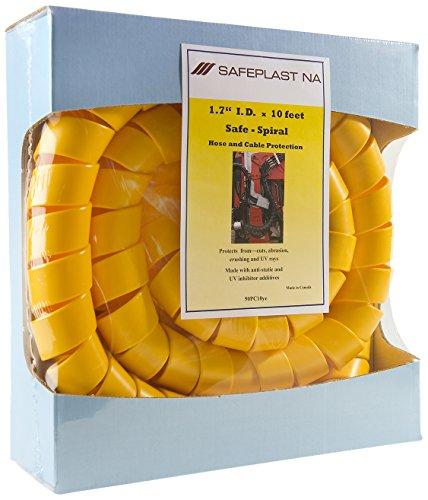 Pre-Cut Spiral Wrap Hose Protector 20 OD 10 Length Yellow