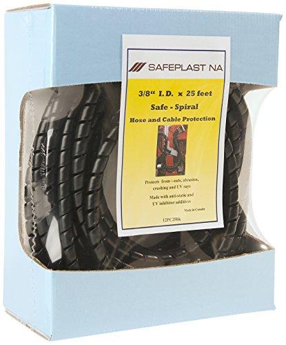 Pre-Cut Spiral Wrap Hose Protector 38 ID 25 Length Black