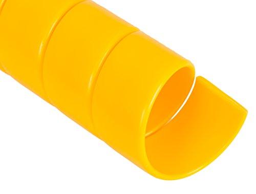 Spiral Wrap Hose Protector 35 OD 50 Length Yellow