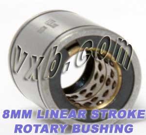 8mm Stroke Rotary Ball Bushing 8x15x24 Miniature Linear Motion