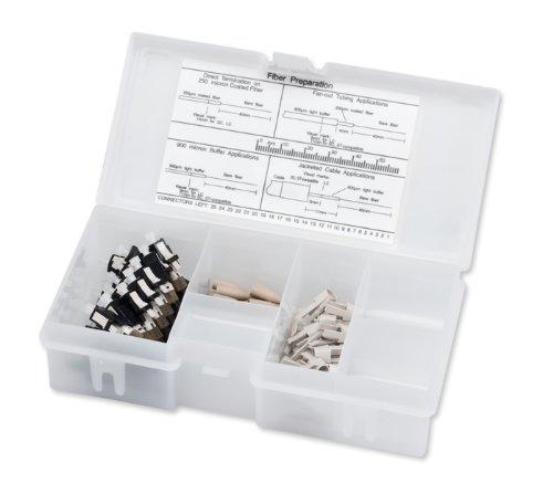 Corning Unicam LC OM1 Multimode 625 Pretium Fiber Optic Connector Organizer Pack of 25 95-000-99-Z