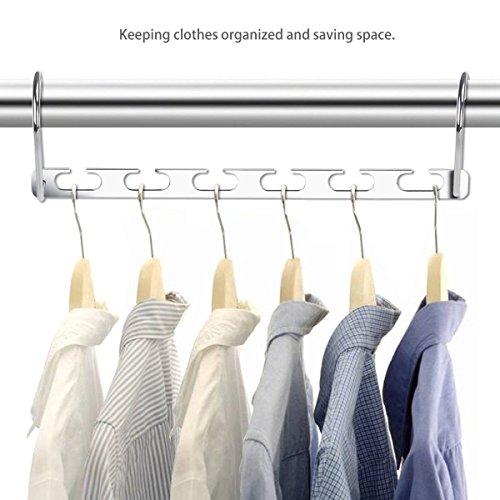 Ferbixo Metal Magic Hangers Closet Clothes Hangers Organizer Pack of 6
