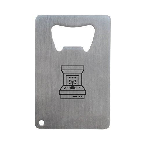 MODERN GOODS SHOP Stainless Steel Bottle Opener With Engraved Arcade Machine Design - Credit Card Bottle Opener For Wallet
