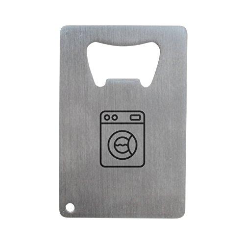 MODERN GOODS SHOP Stainless Steel Bottle Opener With Engraved Washing Machine Design - Credit Card Bottle Opener For Wallet