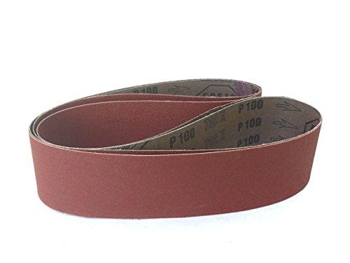 2 X 36 Inch Sanding Belts Aluminum Oxide Cloth Sander Belts 6 Pack 100 Grit