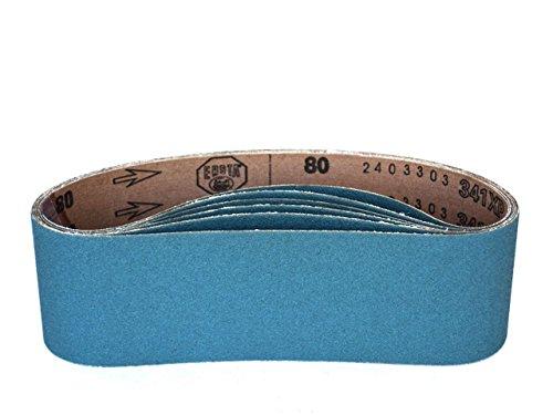 3 X 21 Inch Sanding Belts Zirconia Cloth Narrow Sander Belts 12 Pack 80 Grit