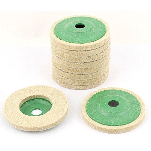 95mm Outer Dia Wool Felt Polishing Wheel Buffing Discs Pads 10pcs