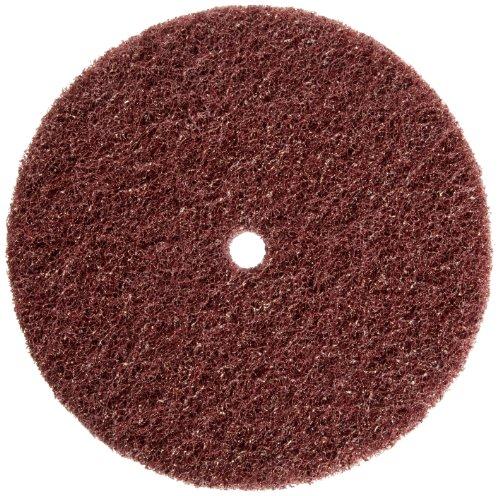 Merit High Strength Abrasotex Buffing Nonwoven Abrasive Disc 12 Arbor Nylon Fiber 8 Diameter V-Fine Grade Case of 25