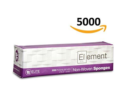 Element Non-Sterile Gauze Sponge 2x2 Inch 4 Ply 5000 Count