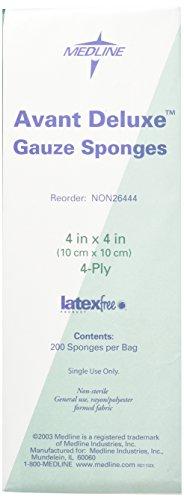 Medline NON26444 Avant Deluxe Non-Sterile Gauze Sponge 4 x 4 4-Ply Pack of 2000