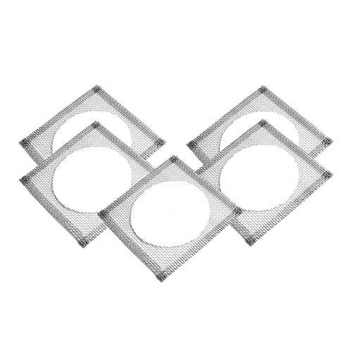 MALAB Lab Wire Gauze with Ceramic Center Squares 125mm X 125mm 5 Pcs 5 X 5
