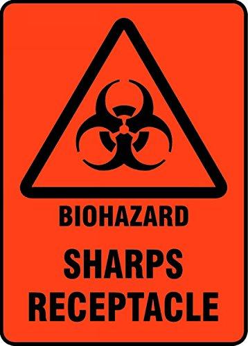 Accuform BIOHAZARD SHARPS RECEPTACLE MBHZ520XF