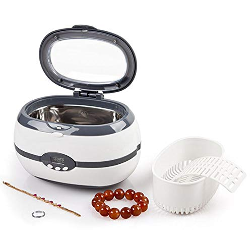 LUCKY ZERO 2025 Ultrasonic Cleaner Sonic Jewellery Cleaner Machine600Ml Ultrasonic Bath with Cleaning Basket for Jewelry Silver Rings Necklace Shavers Dentures Glasses Watches CoinsGray
