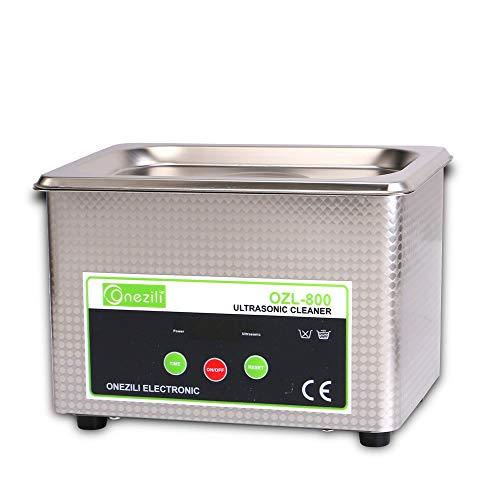 ONEZILI Professional Digital Ultrasonic Jewelry Cleaner Wave Smart Ultrasonic Cleaners 800ML Machine for Cleaning JewelryDentalEyeglassesRingsNecklacesLensesWatchesDentureCircuit Board