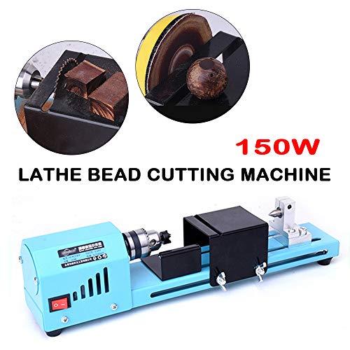 150W Mini DIY Wood Lathe Bead Cutting Machine Drill Polishing Woodworking Tool 110V-230V 5060Hz 7 Speed Adjustable USA STOCK