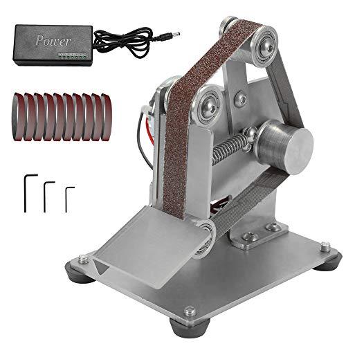 KKmoon Multifunctional Grinder Mini Electric Belt Sander DIY Polishing Grinding Machine Cutter Edges Sharpener