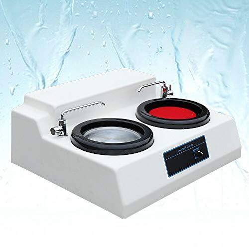 TFCFL 110V Metallographic Specimen Sample Grinder Polisher Polishing Machine Double Disk Table Grinder Polisher MP-2 US