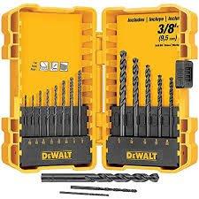 DeWalt Black Oxide Drill Bit Set 16 Piece