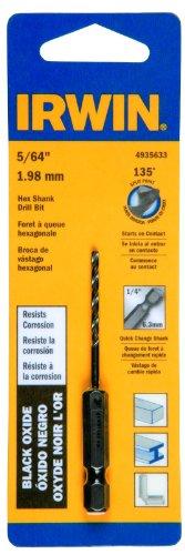 Irwin Tools 4935633 Black Oxide Hex Shank Drill Bit 564-Inch