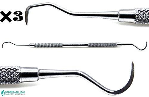 3× Dental Jacquette U1530 Scaler Anterior Tarter Remover Periodontal Instruments