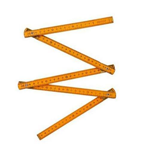 Wooden Yard Stick Folding Ruler Multifunctiona Wood Carpenter Metric Measuring Tools Painting Drawing Measuring Instrument 1 meters 5 fold
