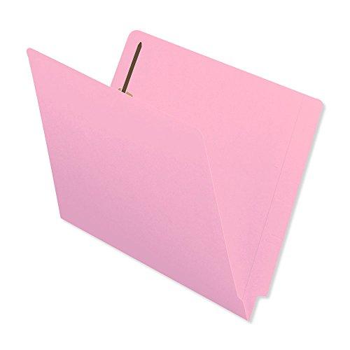 BARKLEY MATCH ETF227PK End Tab Folder 2-ply FAS 1 11Pt Color Stock Flush Front 12 14 x 9 12 Pink Pack of 50