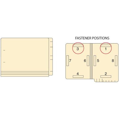 Filepro ETF9 14Pt Manila 2Ply End Tab Folder Fastener Position1 and 3 Flush Front 1225 Length x 95 Width Box of 50