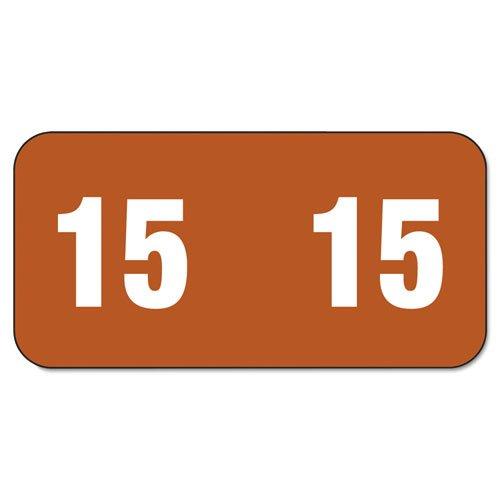 Smead Year 2015 End Tab Folder Labels 12 x 1 BrownWhite 250 LabelsPack