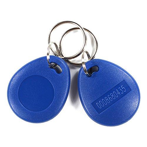 10Pieces EM4100 Proximity Key Fob Tag RFID ABS Keyfobs 125KHz Read Only Blue