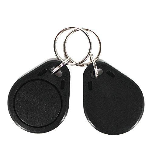 20Pieces RFID Key Fob 125KHz EM4100 ABS Keychain Tag Read Only - Black Color